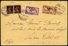 Poste Aérienne N°4 (x2), 5, 6, Oblitérés Sur Enveloppe, TB