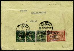 Poste Aérienne N°1 (x2), 2, 3, Oblitérés Sur Enveloppe, TB