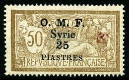 N°54(B), 25 Pi. Sur 50 C. Brun Et Gris, Fleuron D'Alep Rouge, TB