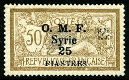 N°54, 25 Pi. Sur 50 C. Brun Et Gris, Fleuron D'Alep Noir, TB