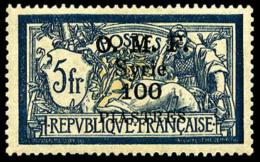N°43, 100 Pi. Sur 5 F. Bleu Et Chamois, Surcharge Gédéon, Superbe