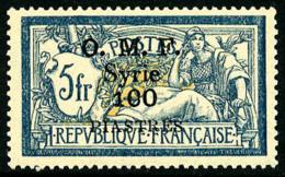 N°43, 100 Pi. Sur 5 F. Bleu Et Chamois, Surcharge Noire, Superbe