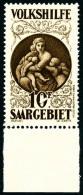 N°125/31, Oeuvres Populaires De 1929, Les 7 Valeurs Bas De Feuille, Superbe (photo Du N°131)