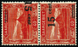 N°72c, 15 C. Sur 40 P. Rouge, Surcharges Seules Tête-bêche, TB