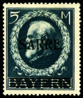 "N°30a, 5 M. Bleu, Variété ""petit A"", Forte Charnière Sinon TB"