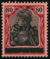 N°16, 80 P. Rouge Et Noir Sur Rose, Superbe