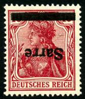 N°6a, 10 P. Rouge, Surcharge Renversée, TB