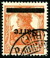 N°5a, 7 1/2 P. Orange, Surcharge Renversée, Oblitéré, TB