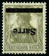 N°1a, 2 P. Gris-olive, Surcharge Renversée, TB