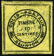 Colis Postaux N°1, 10 C. Cadre Noir, Oblitéré, TB