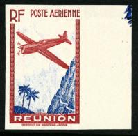 Poste Aérienne N°4e, (9 F.65) Rouge-carmin Et Outremer, Non-dentelé Et Sans Chiffre De La Valeur, Bord