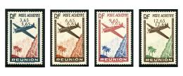 Poste Aérienne N°2c/5c, Chiffres De La Valeur Doublés, Les 4 Variétés, TB