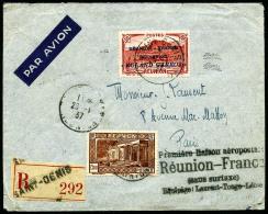 Poste Aérienne N°1, 50 C. Rouge, Roland Garros, Et Poste N°141, Oblitérés De St Denis Du 26