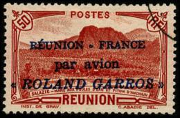 Poste Aérienne N°1, 50 C. Rouge, Roland Garros, Oblitéré, TB