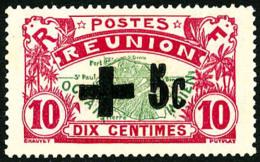 N°80, +5 C. Sur 10 C. Rose Et Vert, Surcharge Noire, TB