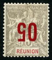 N°73a, 05 Sur 15 C. Gris Et Rouge, Surcharge Renversée, TB