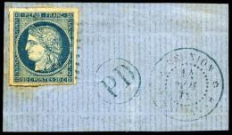 Colonies Générales N°12, 20 C. Bleu (rousseurs), Oblitéré Losange De Points Bleus Sur Pe