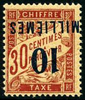 Taxe N°7a, 10 M. Sur 30 C. Rouge-carmin, Surcharge Renversée, Superbe