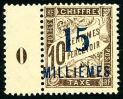 Taxe N°6a, 15 M. Sur 10 C. Brun, Erreur De Chiffres, Avec Millésime 0, Superbe