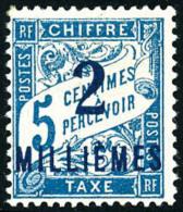 Taxe N°5a, 2 M. Sur 5 C. Bleu, Surcharge Bleue, TB