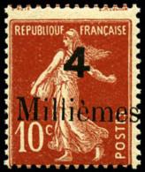 Non-émis 4 M. Sur 10 C. Rouge De France, TB