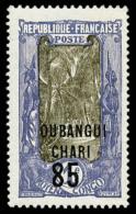 N°68a, 85 Sur 1 F. Violet Et Brun, Sans La Surcharge De L' A. E. F., Superbe
