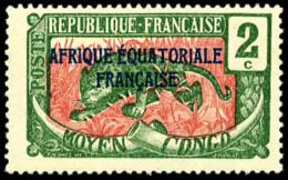 N°44a, 2 C. Vert Et Rose, Sans La Surcharge OUBANGUI-CHARI, TB