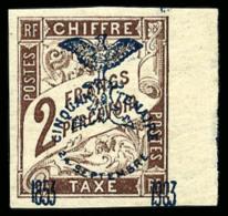 Taxe N°15, 2 F. Marron, Bord De Feuille, Superbe