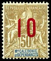 N°109, 10 Sur 50 C. Bistre Et Bleu Sur Azuré, Chiffres Espacés, TB