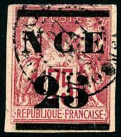 N°5, 25 Sur 75 C. Rose, Oblitéré, Légèrement Touché Dans Un Angle, Bel Aspect
