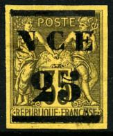 N°4, 25 Sur 35 C. Violet-noir Sur Jaune, TB