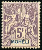 N°16, 5 F. Violet Sur Gris, TB