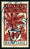 Taxe N°6, 40 C Rouge Sur Gris, Surcharge Bleue, Oblitéré, TB