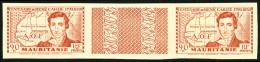 N°95a, 90 C. Rouge Terne, Grande Légende, Non-dentelé, Paire Interpanneau, Superbe