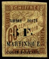 N°60, 5 F. Sur 60 C. Brun, TB