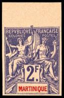 N°50a, 2 F. Violet Sur Rose, Non-dentelé, Haut De Feuille, Superbe
