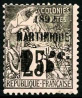 N°28a, 15 C. Sur 25 C. Noir Sur Rose, 5 Penché, TB