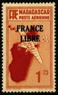 Poste Aérienne N°46, 1 F.75 Orange, France Libre, Superbe