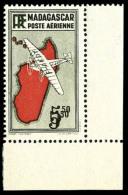 Poste Aérienne N°20a, 5 F.50 Noir, Double Impression De La Valeur, Coin De Feuille, Superbe