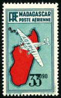 Poste Aérienne N°19a, 3 F.90 Bleu-vert, Double Impression De La Valeur, Superbe