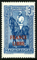 N°243, 3 C. Bleu, France Libre, Superbe