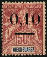 N°60, 0,10 Sur 50 C. Rose, Surcharge Type II, TB