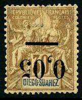 N°59a, 0,05 Sur 30 C. Brun, Surcharge Type I Renversée, TB