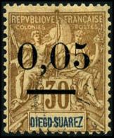 N°59(II), 0,05 Sur 30 C. Brun, Surcharge Type II, Oblitéré, TB
