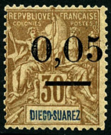 N°59(II), 0,05 Sur 30 C. Brun, Surcharge Type II, TB