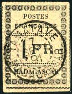 N°12, 1 F. Noir Sur Jaune, Oblitéré, TB