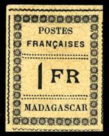 N°12, 1 F. Noir Sur Jaune, TB