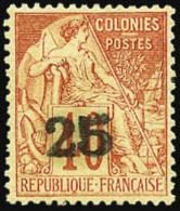 N°3, 25 Sur 40 C. Rouge-orange, Bon Centrage, Gomme Partielle Sinon TB