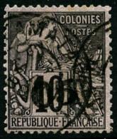 N°1, 05 Sur 10 C. Noir Sur Lilas, Oblitéré, TB
