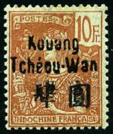N°17, 10 F. Rouge Sur Vert-bleu, TB